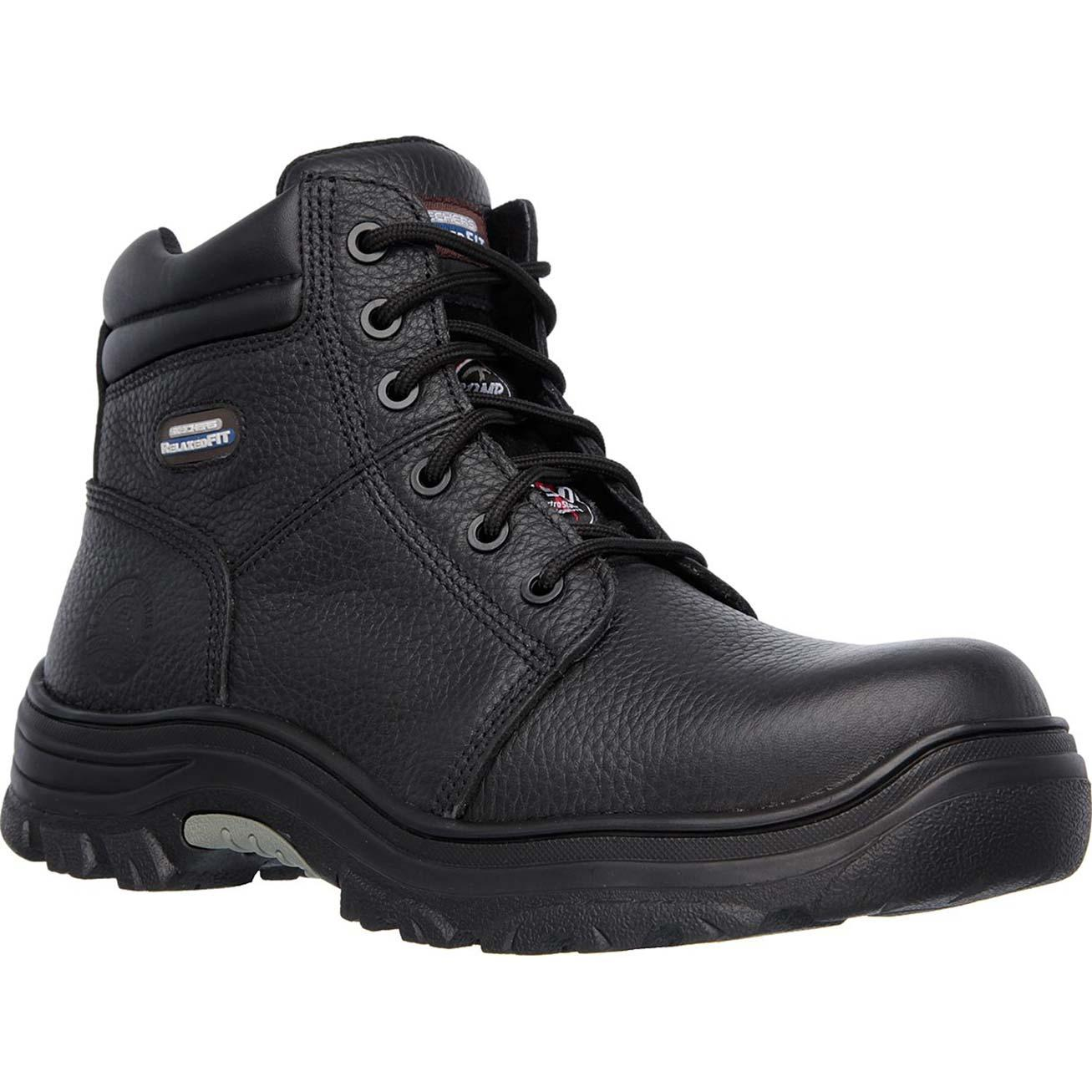 a7a13ee19ac SKECHERS Work Relaxed Fit Burgin Composite Toe Puncture-Resistant Work Boot