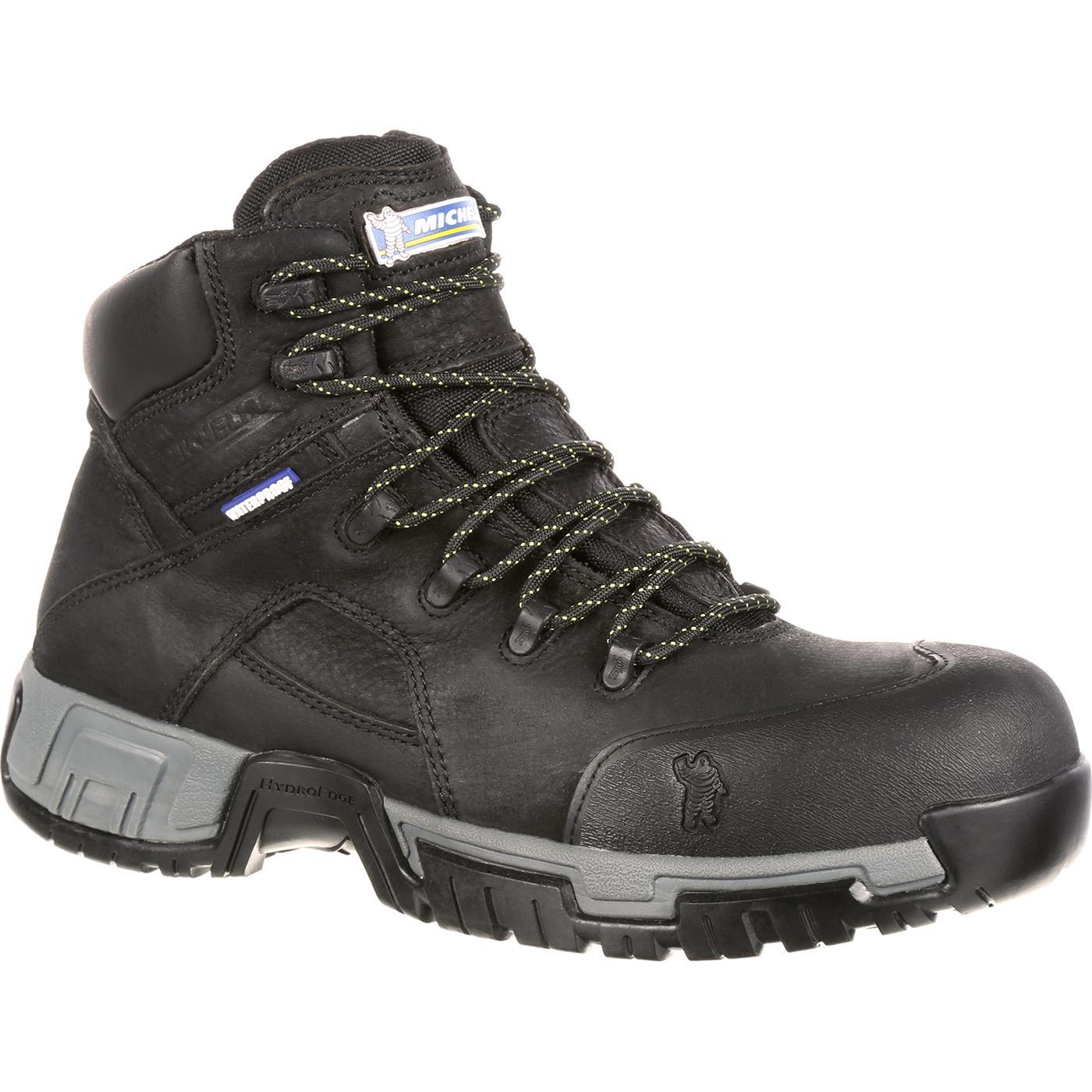 8f477420df63 Michelin® HydroEdge Steel Toe Puncture-Resistant Waterproof Work Boot
