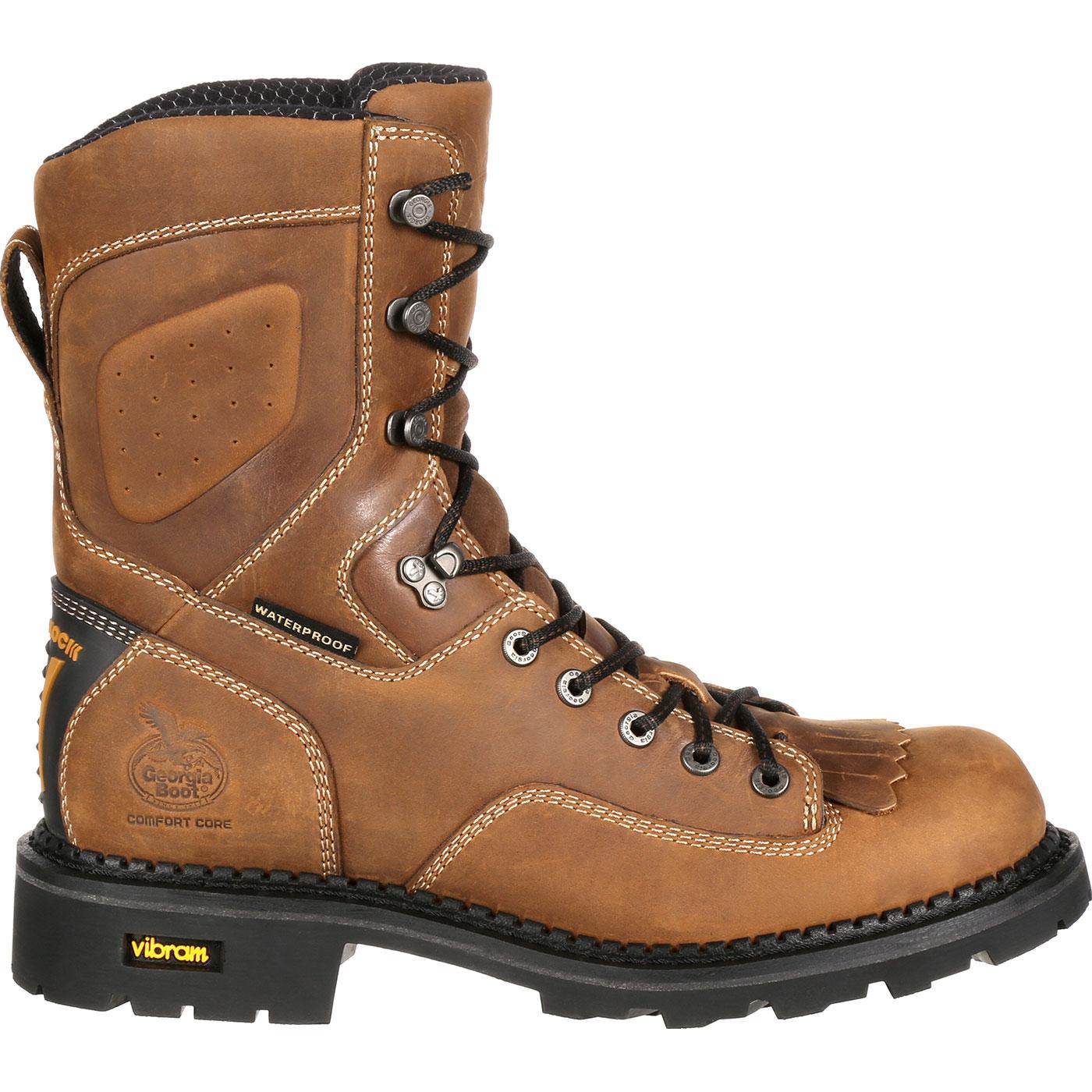 Composite Toe Waterproof Logger, Georgia Boot Comfort Core