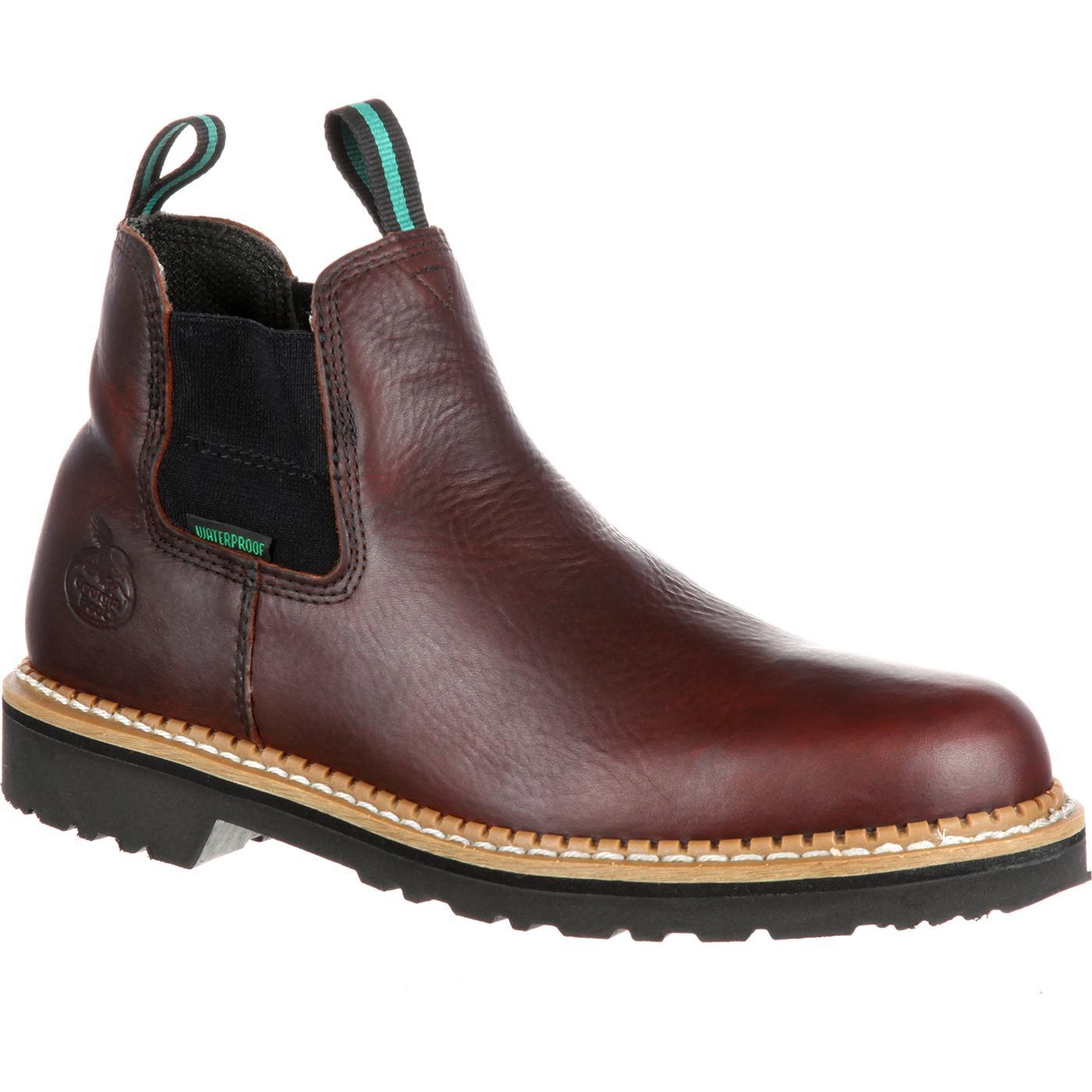 hot-selling genuine release date: 100% genuine Georgia Giant High Romeo Waterproof Steel Toe Boot