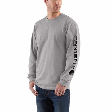 Carhartt Long-Sleeve Graphic Logo T-Shirt, , large