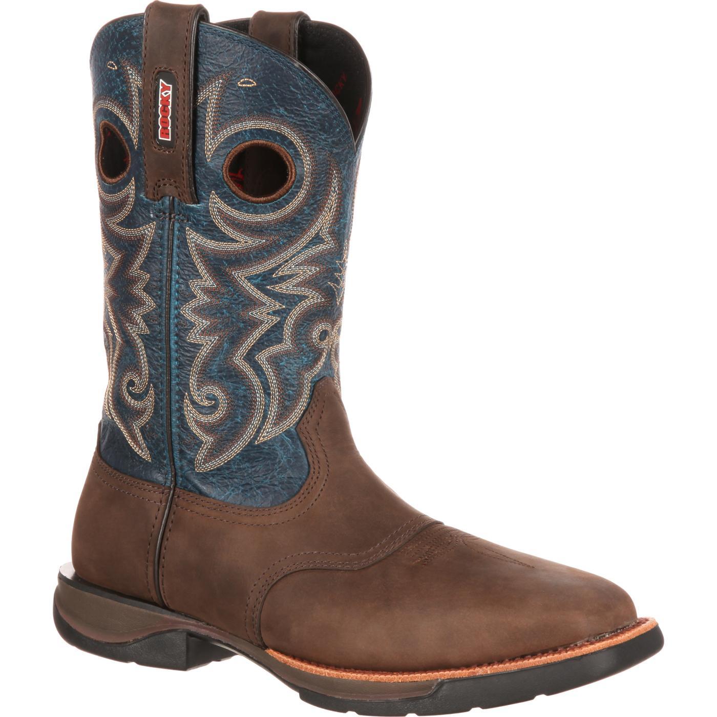 a8c4da51dd3 Rocky LT Steel Toe Saddle Western Boot