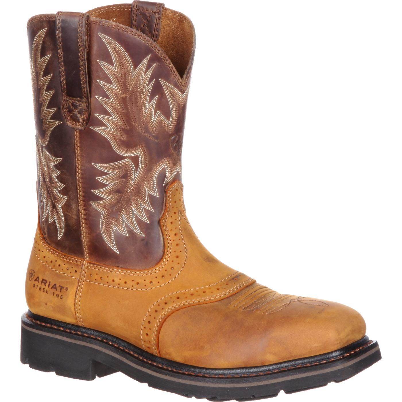 Ariat Sierra Wide Square Steel Toe Western Boot, #10010134