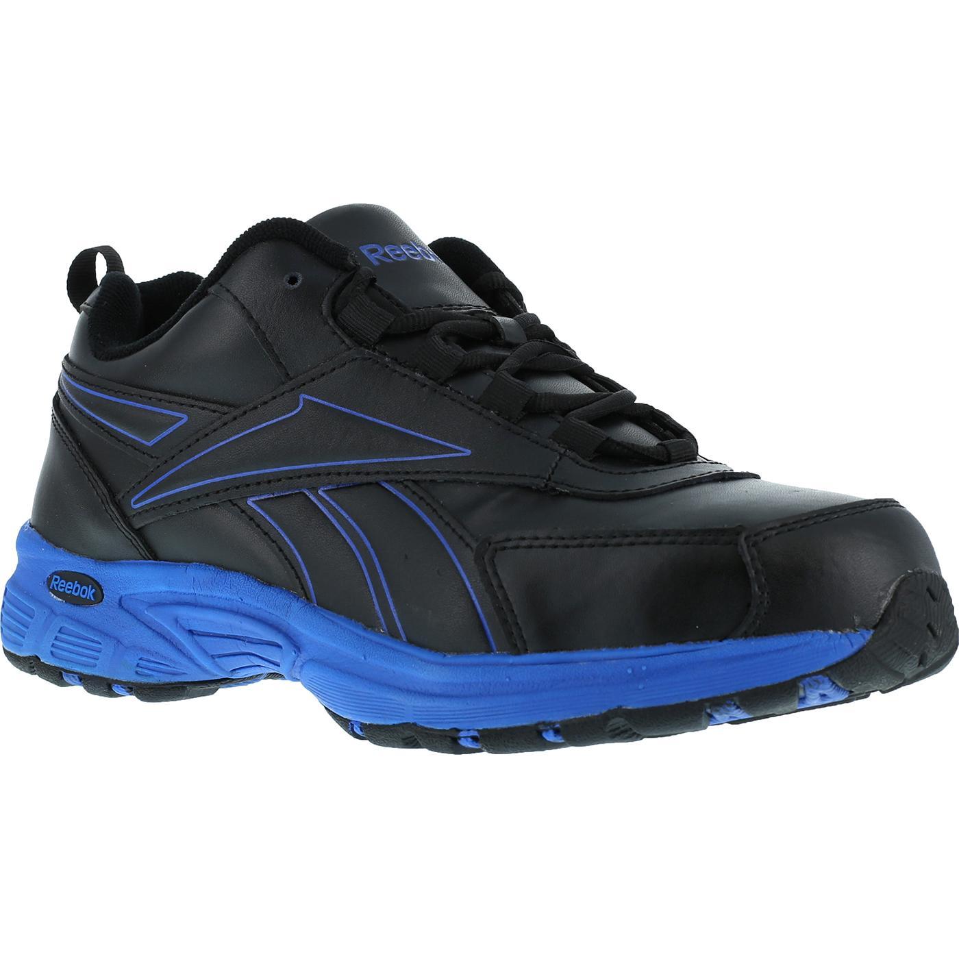 608fa6e2acd Men s Black Blue Steel Toe Work Athletic Shoe