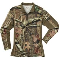 Rocky Women's SilentHunter 1/4 Zip Camo Shirt, Mossy Oak Break Up Infinity, medium