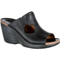 4EurSole Joyful Women's Black Leather Slide, , medium