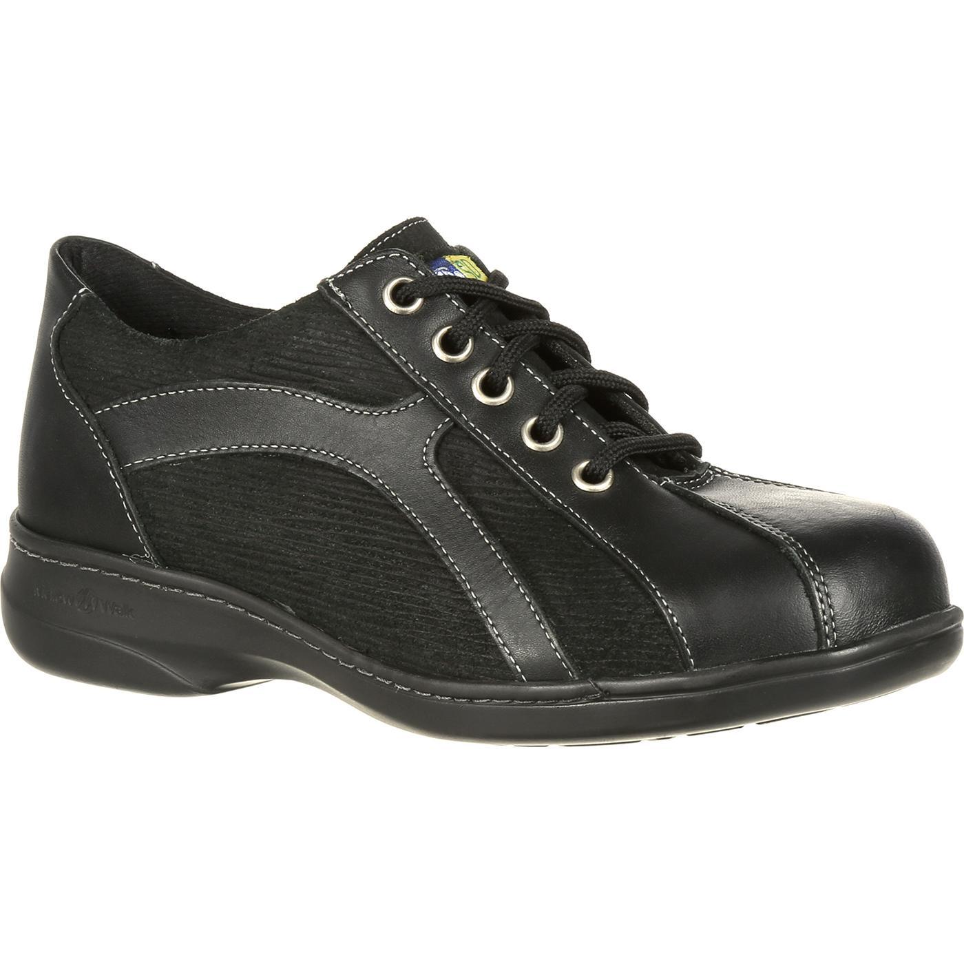 Mellow Walk Women s Daisy Oxford Steel Toe Static Dissipative Work Shoe 215bc40507