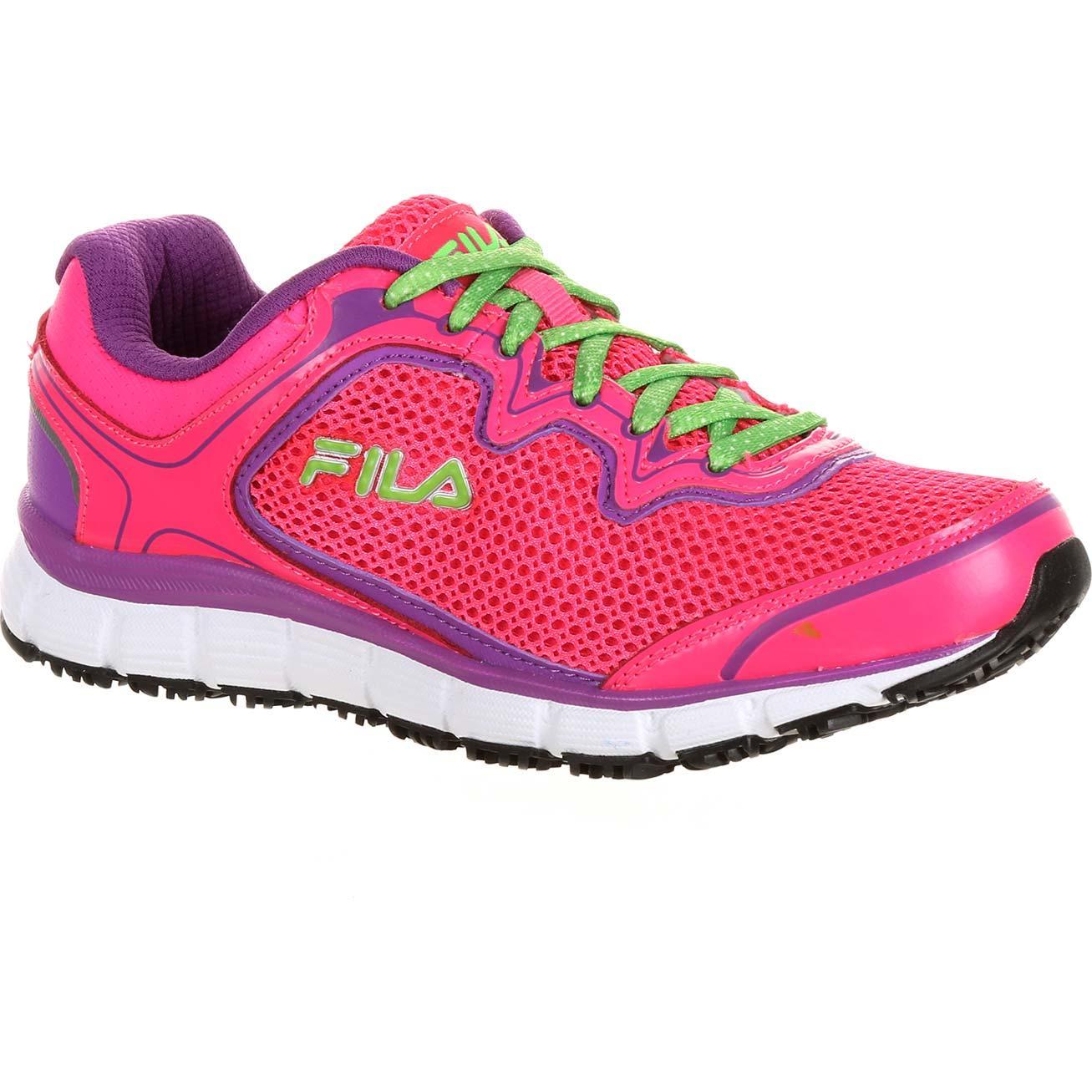 b4d10b394bf3 Fila Memory Fresh Start Women s Slip-Resistant Work Athletic Shoe ...