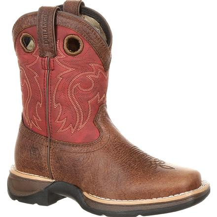 Lil' Rebel by Durango Big Kids' Waterproof Western Saddle Boot, , large
