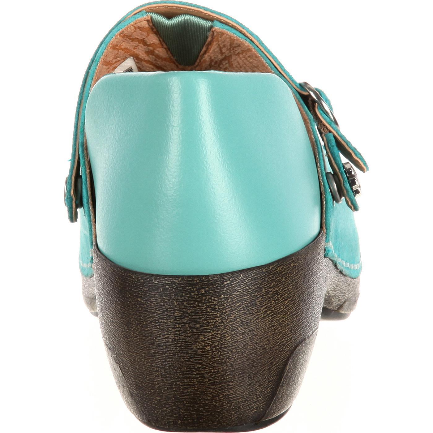 228dae6d141b9 4EurSole Inspire Me Women's Western Embellished Leather Clog