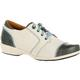 4EurSole Rococo Women's Blue and Cream Low Wedge Lacer Shoe, , small