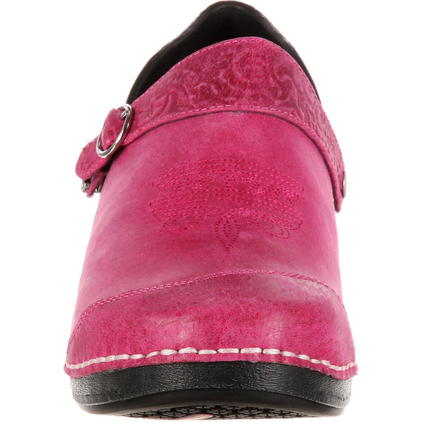 caf22bebdf976 Images. 4EurSole Inspire Me Women's Western Embellished Leather Clog ...
