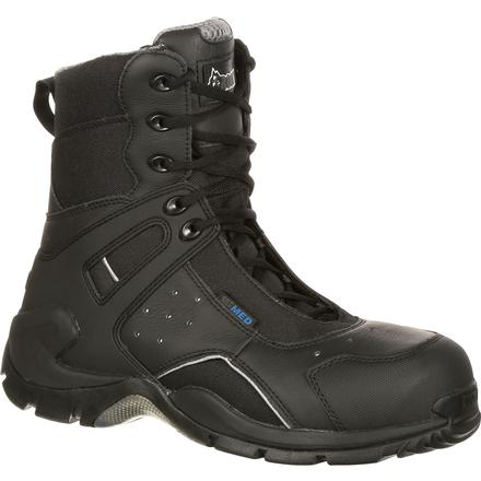 Rocky 1st Med Carbon Fiber Toe Puncture-Resistant Side-Zip Waterproof Public Service Boot