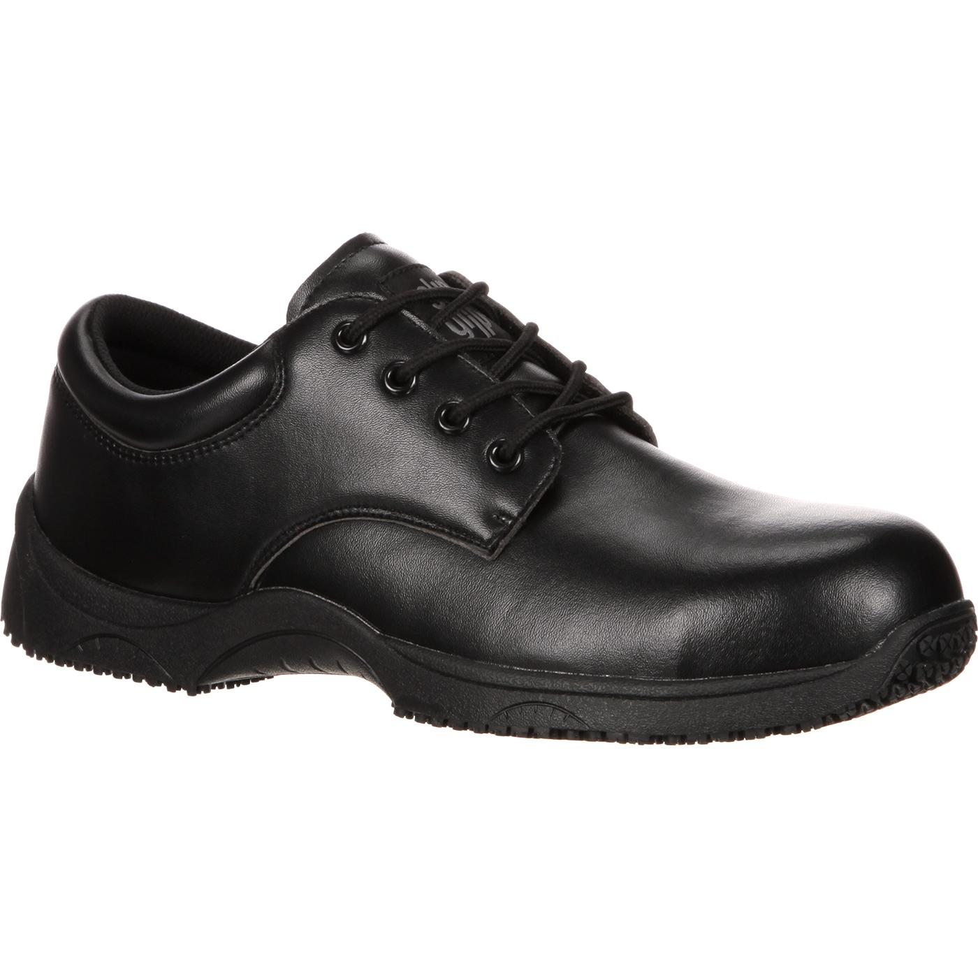 SlipGrips Composite Toe Slip-Resistant Oxford