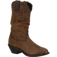 Durango Women's Distressed Tan Slouch Western Boot, , medium
