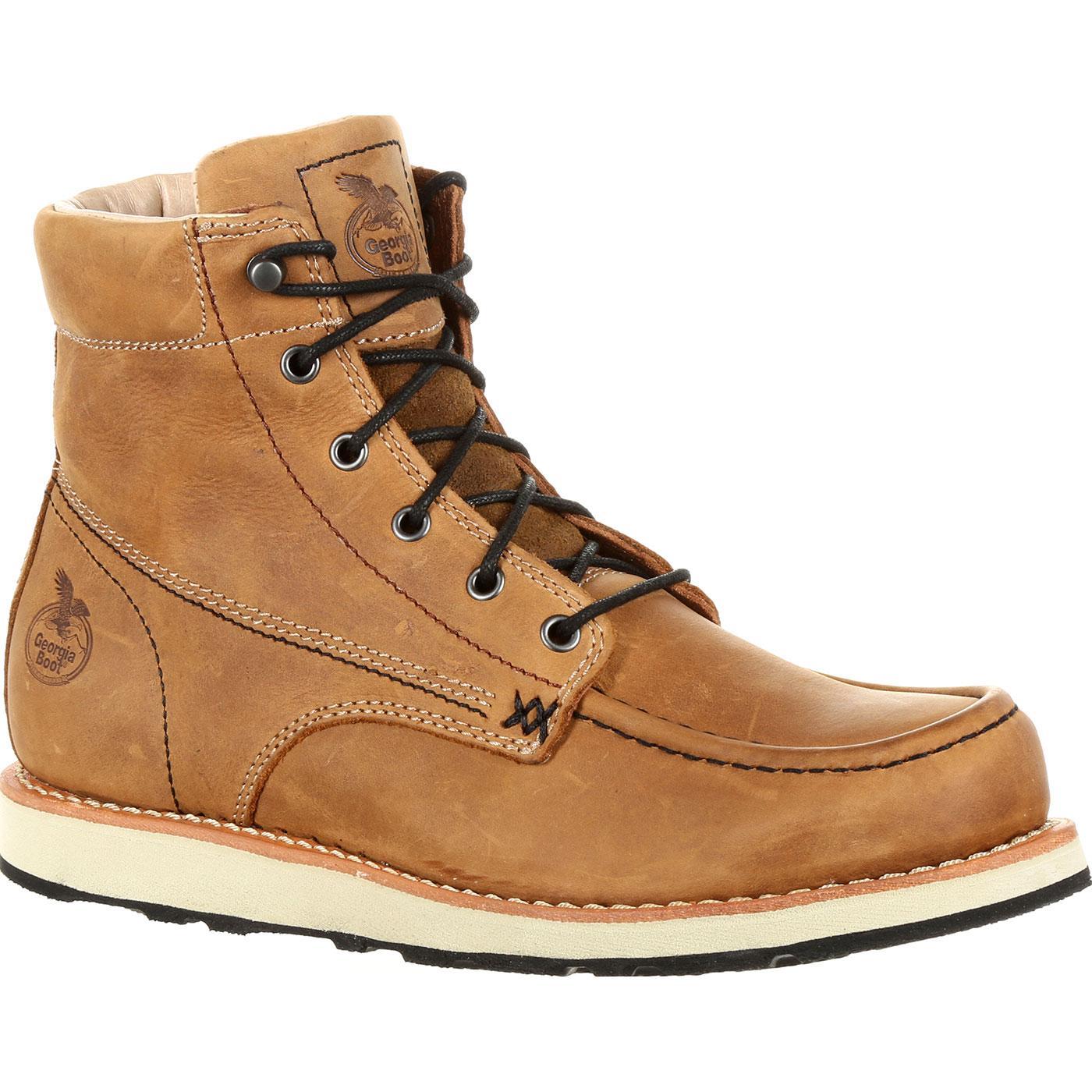 d65335256eb2 Georgia Boot Small Batch Wedge Brown Boot