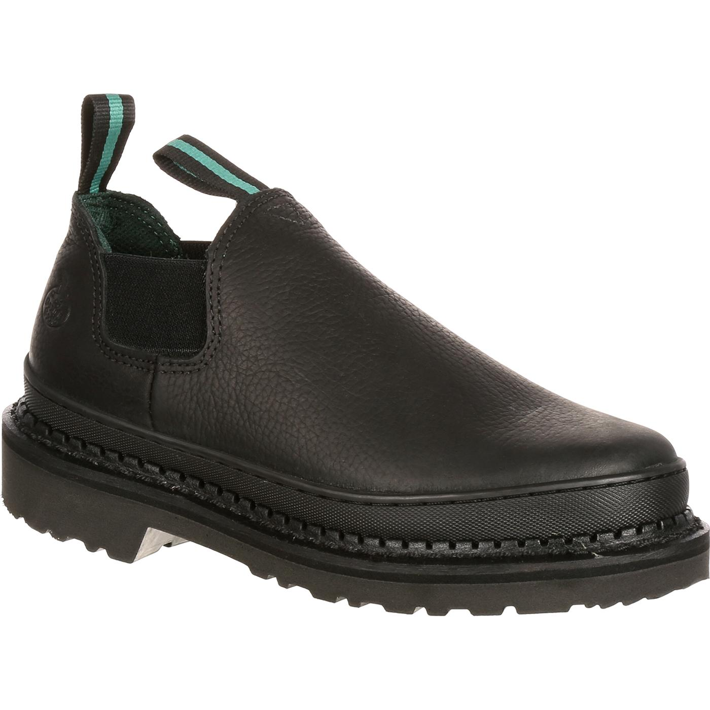 064133aebf95 Men s Black Leather Slip-On Romeo Work Shoes