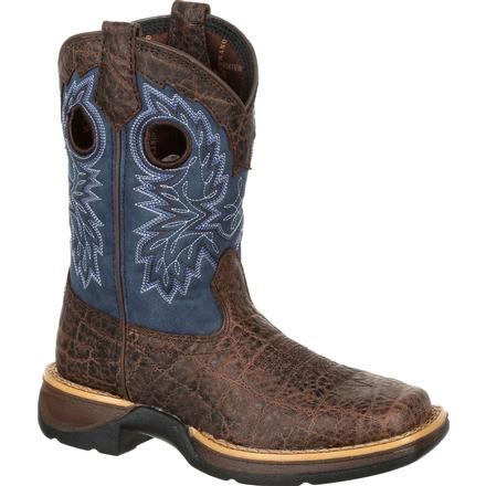 Lil' Rebel by Durango Little Kids Faux Exotic Western Boot, , large