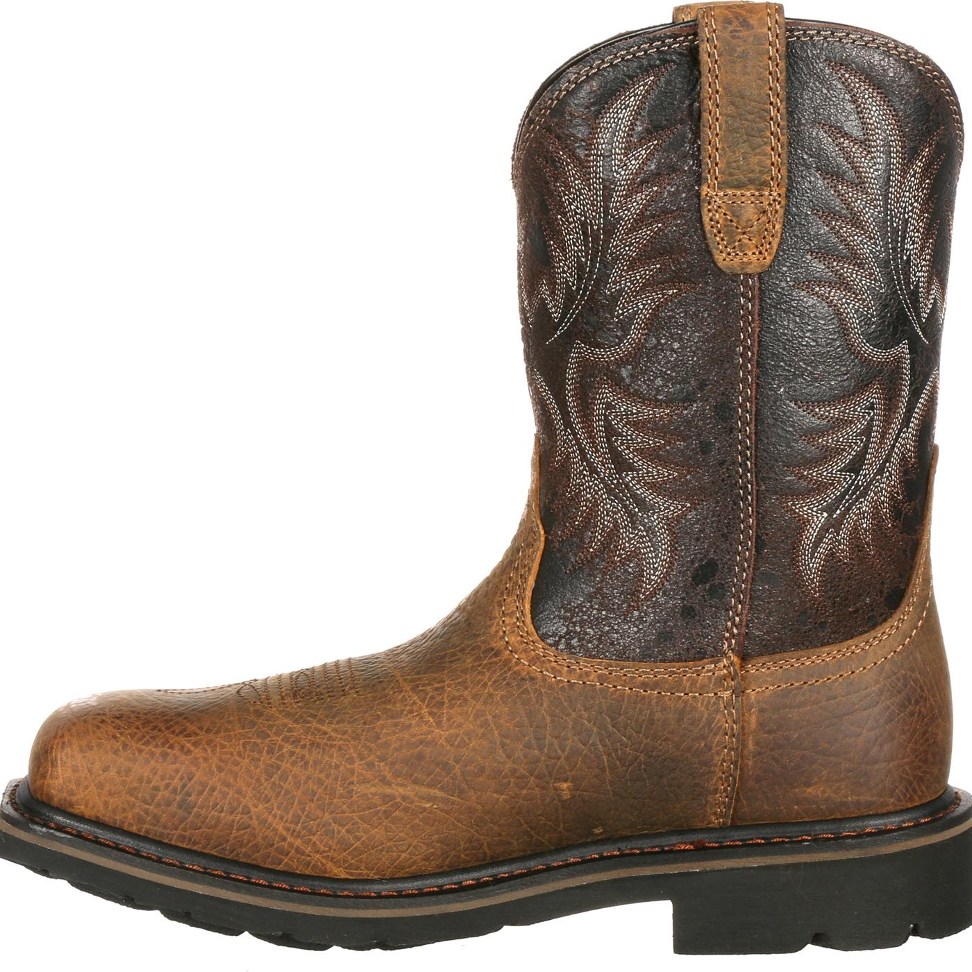 Ariat Sierra Wide Square Toe Steel Toe Puncture-Resistant Western ...
