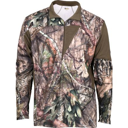 Rocky SilentHunter 1/4 Zip Shirt, Mossy Oak Country, large