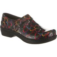 Klogs Mission Hearts Patent Women's Slip Resistant Work Clogs, , medium