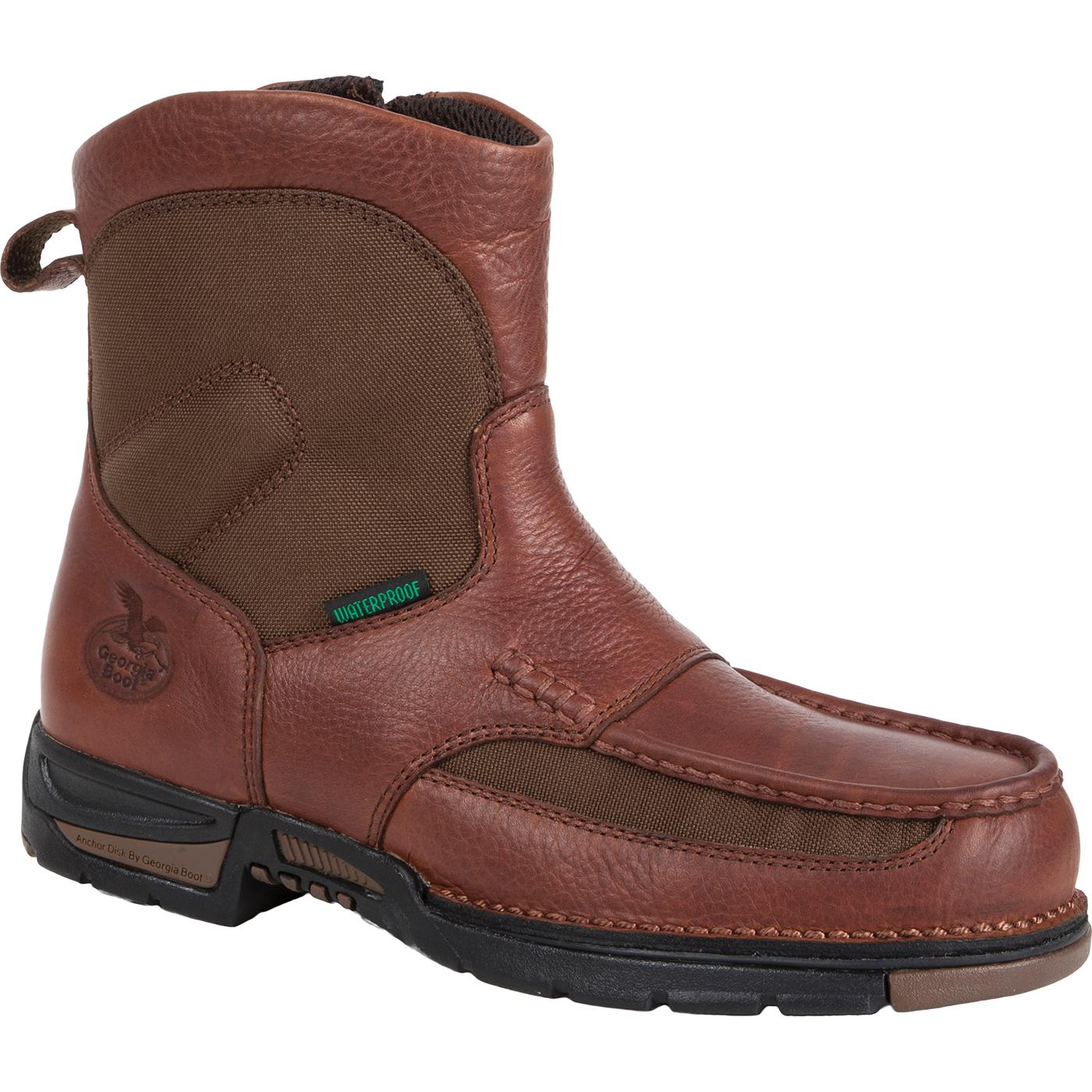 Waterproof Pull On Side Zipper Work Boot Georgia Athens