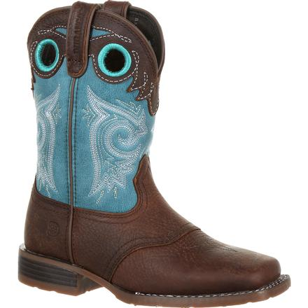 Durango Lil' Mustang Big Kids Western Saddle Boot, , large