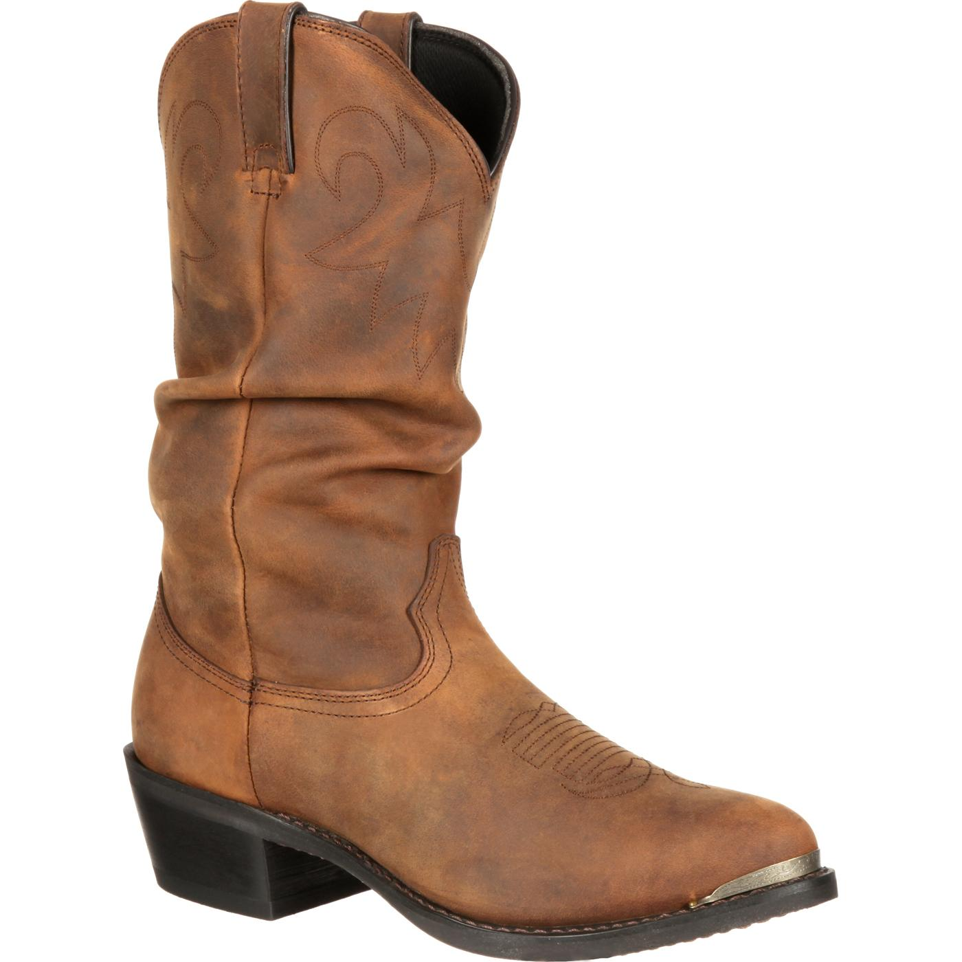Men S Distressed Western Slouch Boot Durango Boot Sw542