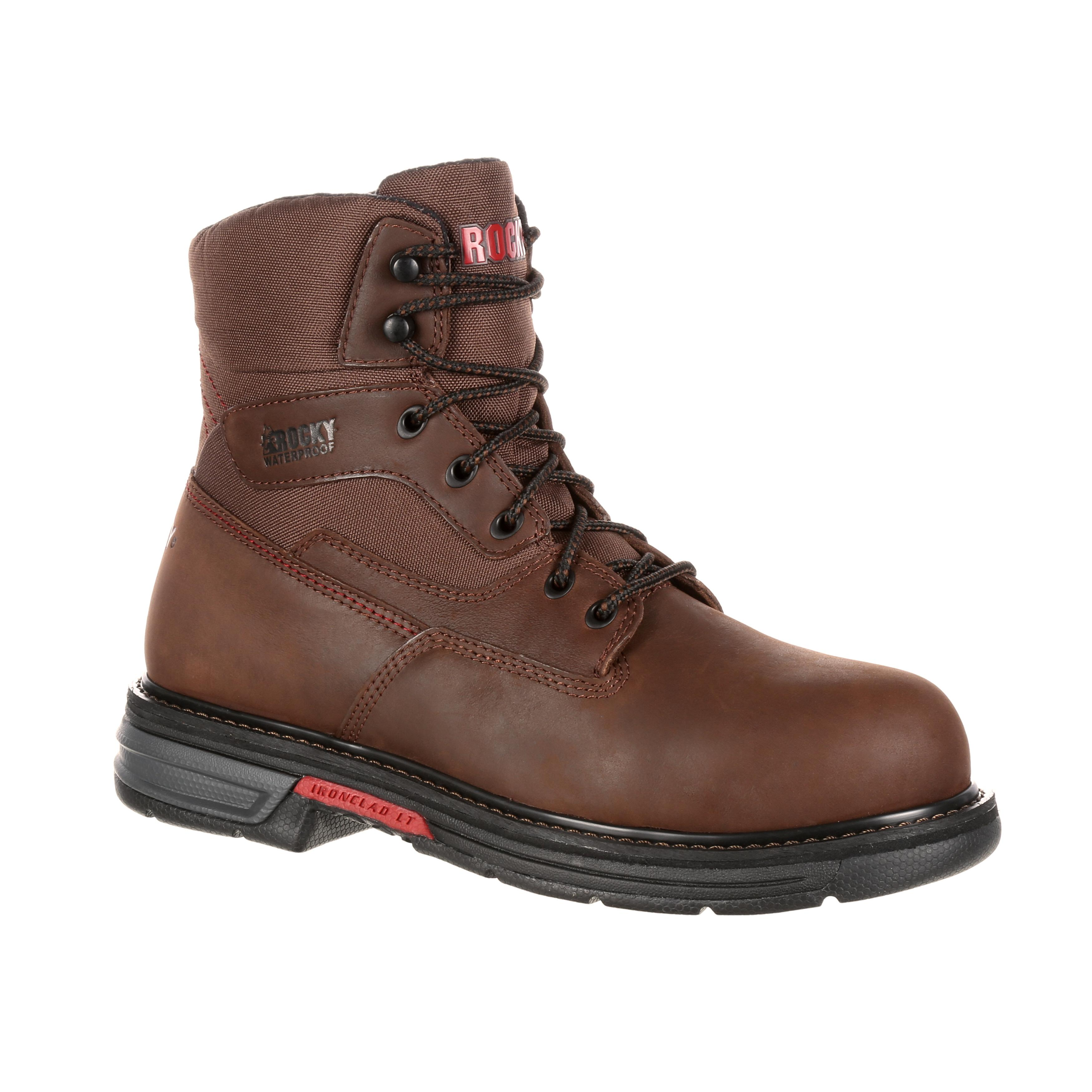 s lightweight waterproof work boots rocky ironclad lt