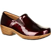 4Eursole Comfort 4Ever Women's Burgundy Patent Slip-On Shoe, , medium