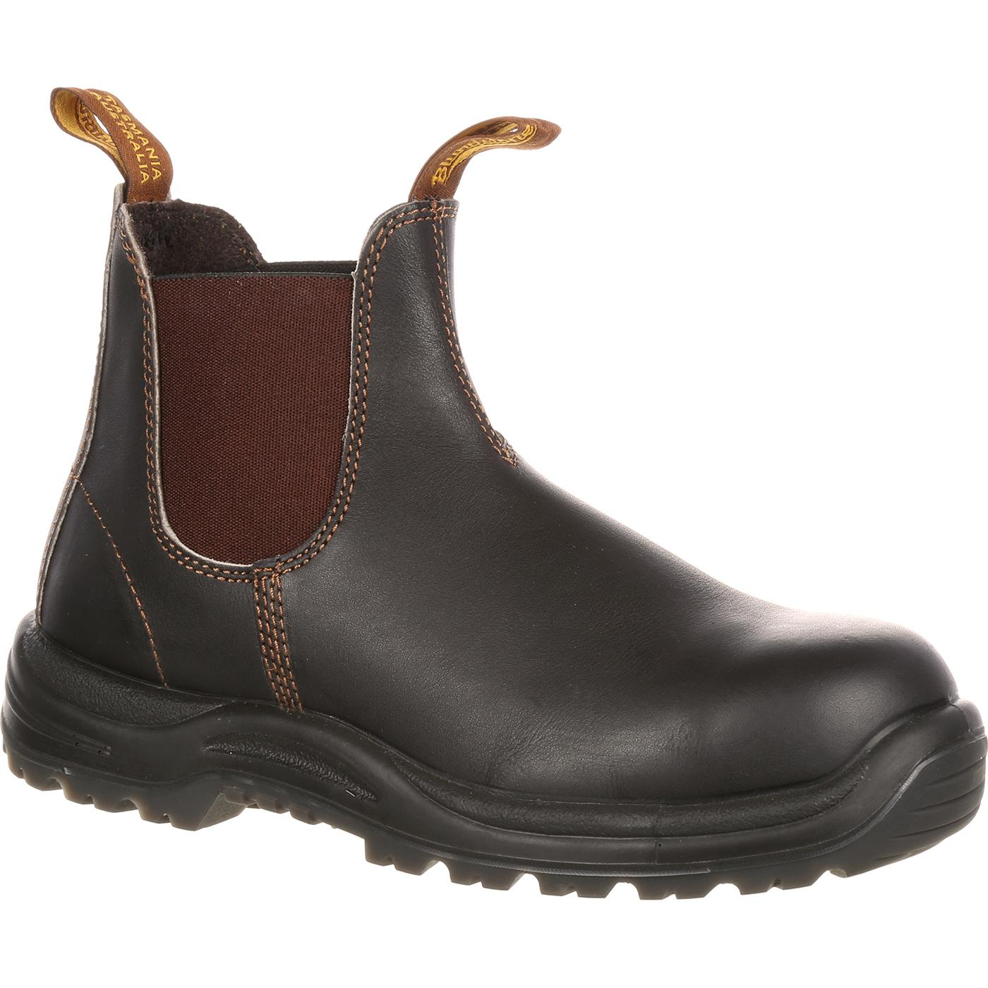 Blundstone Extreme Safety Steel Toe Twin-Gore Slip-On Work Shoe 83c26dbd5310