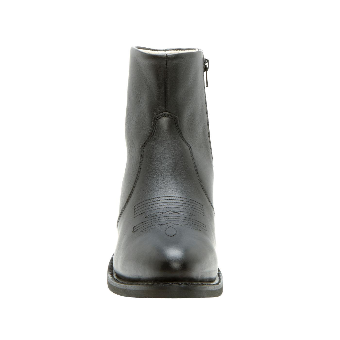 9d672f3830d01 Durango Boots  Men s Black Leather Side Zip Western Boots - Style  DB950