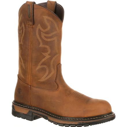 Rocky Original Ride Branson Steel Toe Waterproof Western Boots, , large