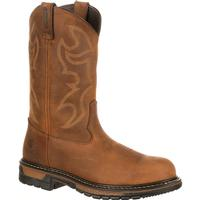 Rocky Original Ride Branson Steel Toe Waterproof Western Boots, , medium
