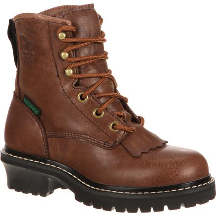 Georgia Boot Big Kid Waterproof Logger, , large