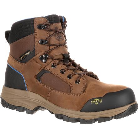 Georgia Boot Blue Collar Composite Toe Waterproof Work Hiker, , large