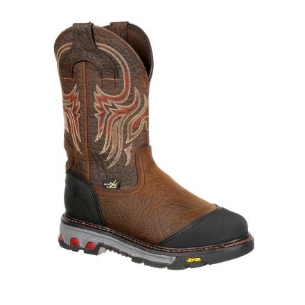 b165f5b6ed0 Justin Original Workboots Commander-X5 Borehole Steel Toe Internal Met  Guard Waterproof Western Work Boot