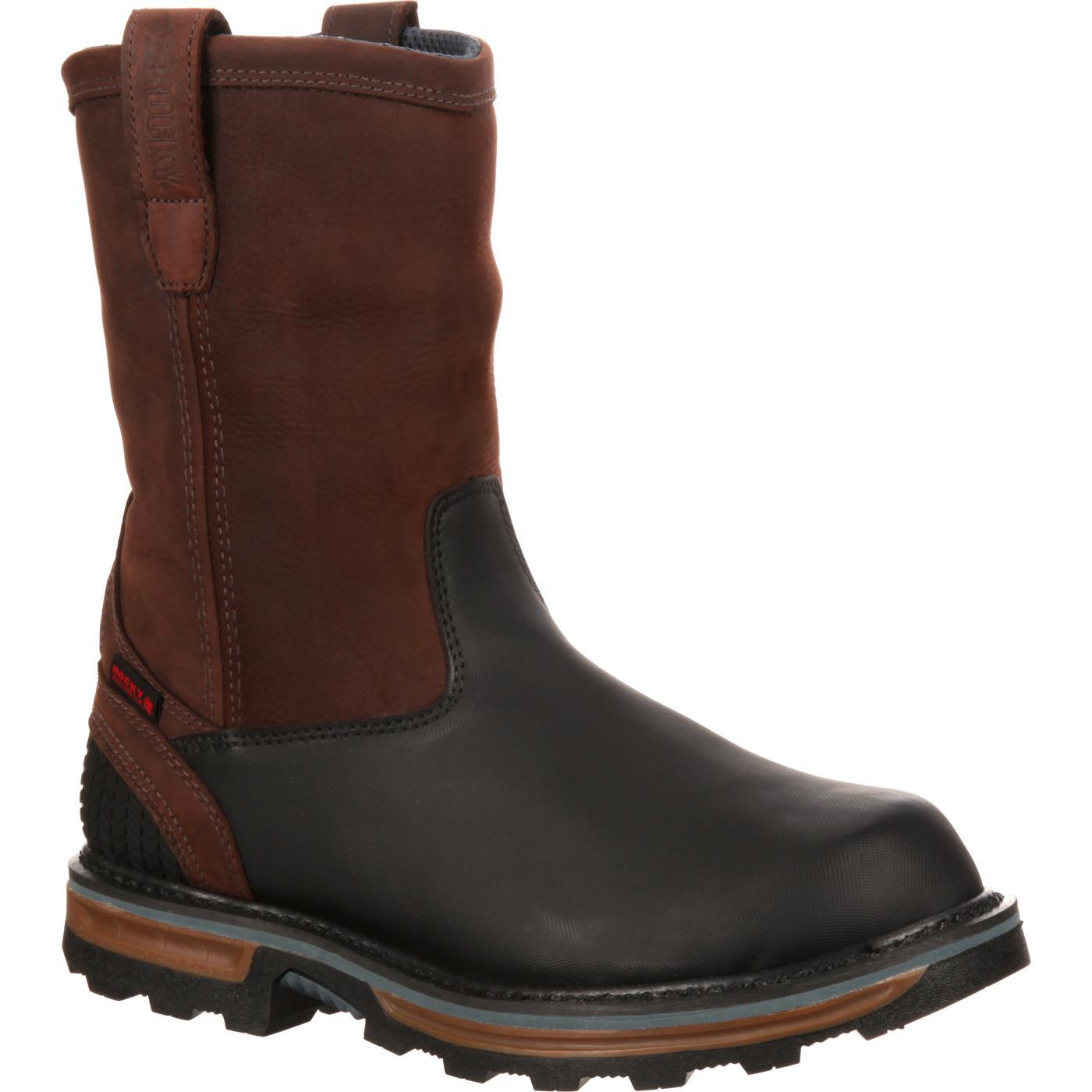 554a19b52c7 Rocky Elements Block Steel Toe Waterproof Pull-On Work Boot