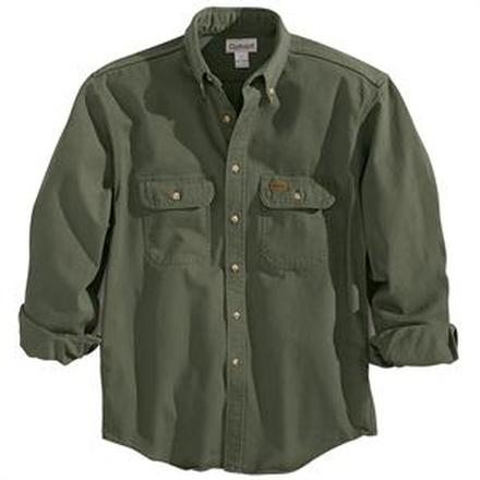 Carhart Moss Sandstone Twill Shirt, , large