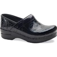 Dansko Professional Women's Black Tooled Leather Work Clog, , medium