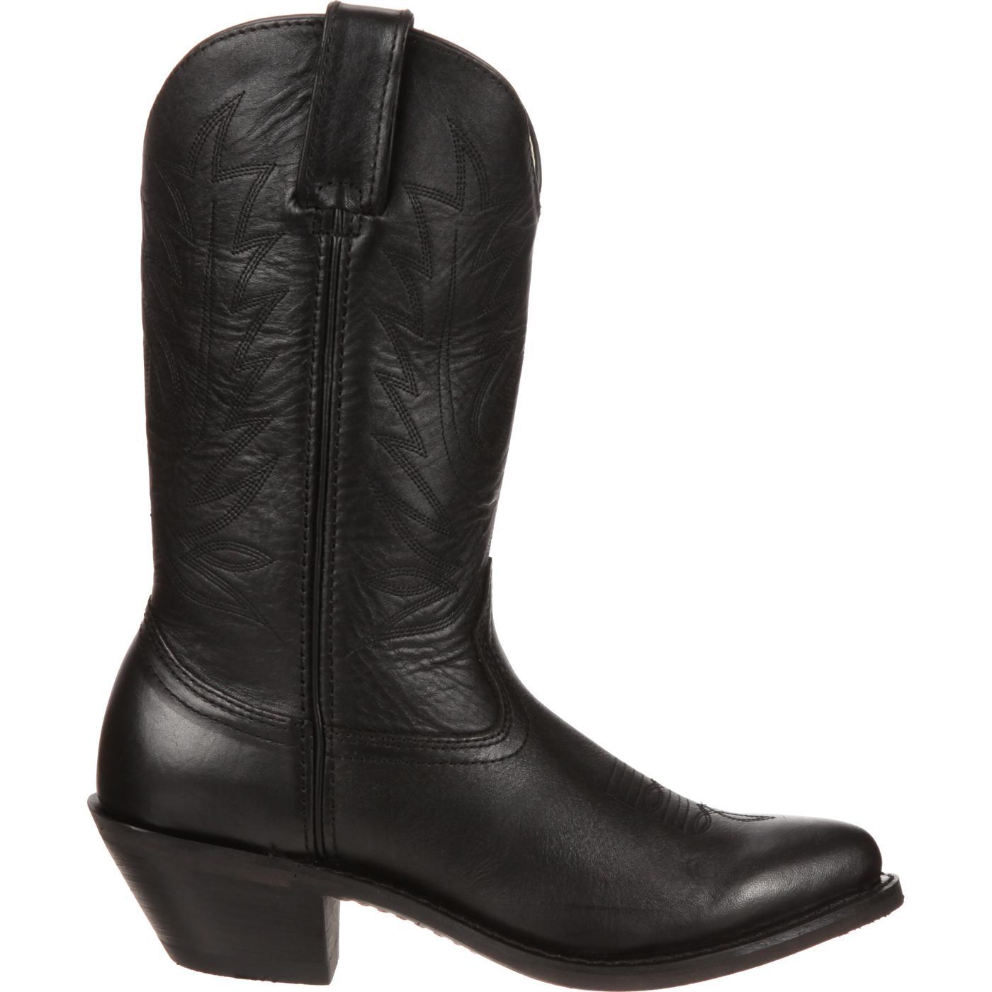6740dd8155d Durango Women's Black Leather Western Boot