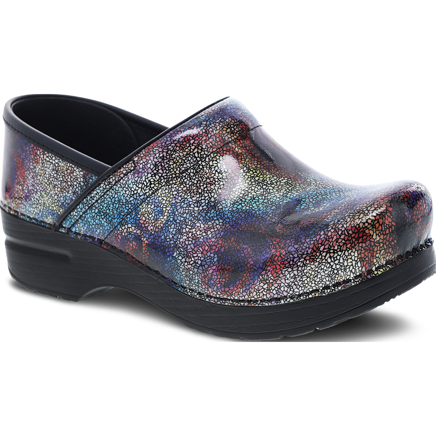 36f92555 Buy the Dansko Professional Women's Multi Mosaic Patent Leather Clog ...