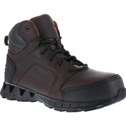 72e212722f3649 Reebok Zigkick Work  Composite Toe Brown Sport Work Boot