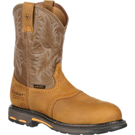 Ariat WorkHog Pull-On H2O Composite Toe Waterproof Work Boot, , large