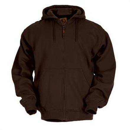 Berne Dark Brown Thermal-Lined Original Hooded Sweatshirt