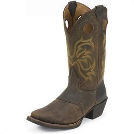 Justin Stampede Milo Pull-On Western Boot