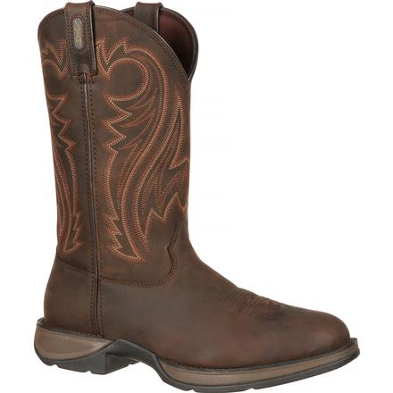 Rebel™ by Durango® Chocolate Pull-On Western Boot, , large