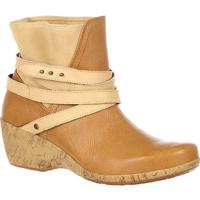 4EurSole Motif Women's Tan Wedge Bootie, , medium