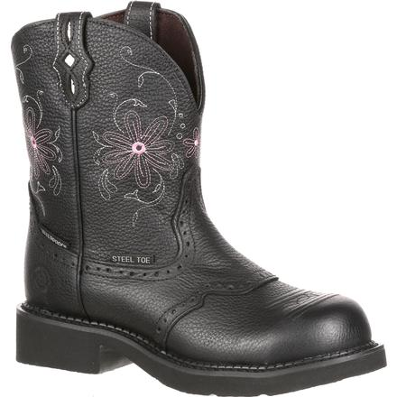 Justin Work Women's Steel Toe Western Waterproof Work Boot