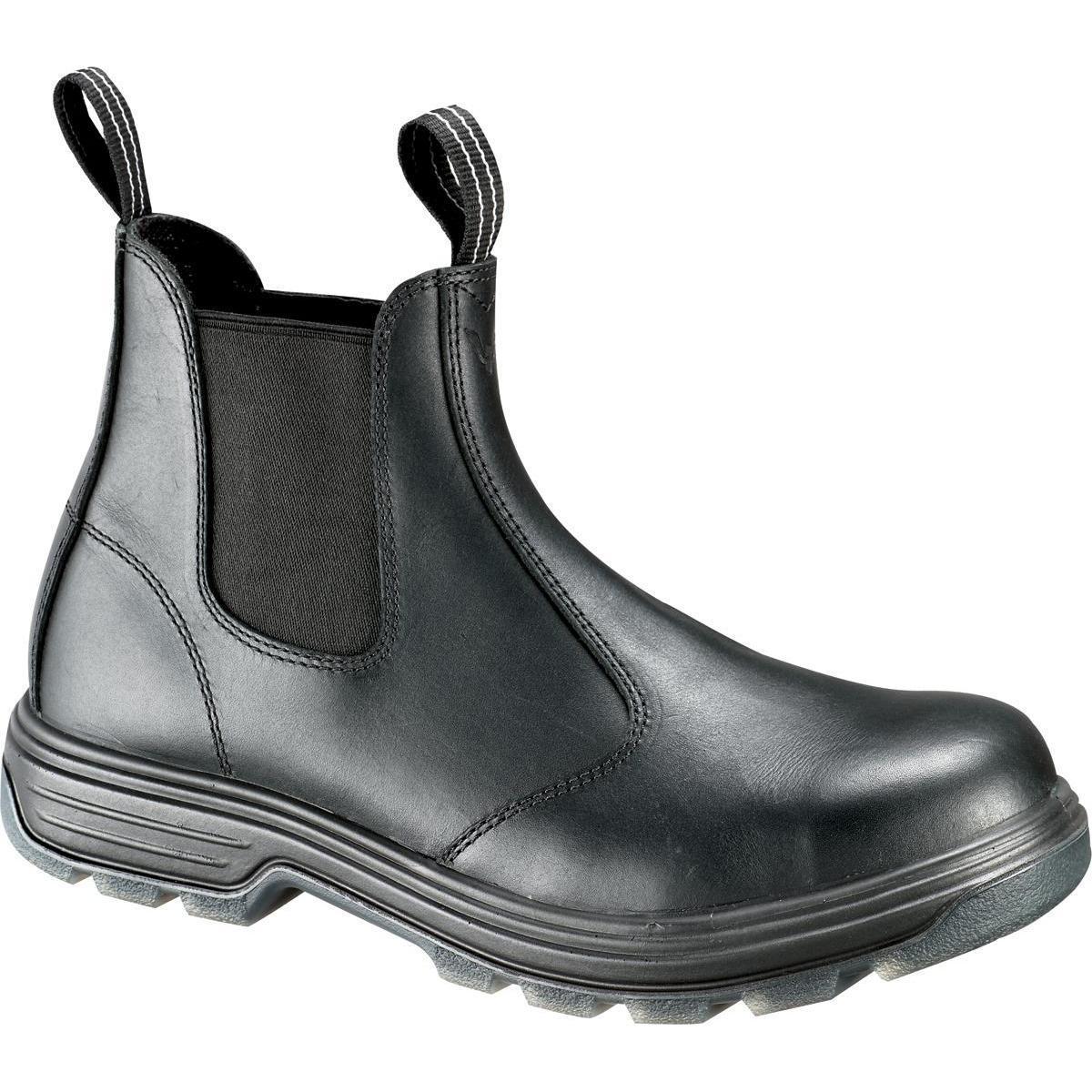 fa91004169512 Men s Pull-On Thorogood Steel Toe Black Work Boot - 804-6026